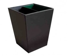 Crown Square Litter Bin with Metal Innerliner