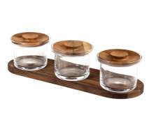 Craster Tilt Small Glass Jars Set